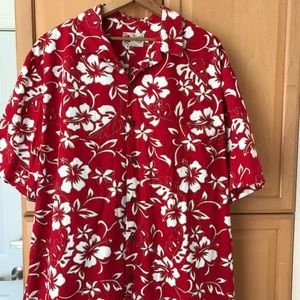 Hilo Hattie ~ Men's Cotton Hawaiian Shirt ~ 2XL